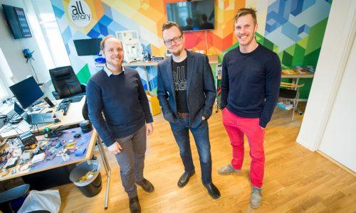 180327 Teknikföretaget All Binary växer och ligger bakom tekniken i Smart City Karlskrona. Mathias Djärv, Tomas Sareklint och Christian Malmström.